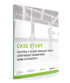 Helping A Client Manage Their Contingent Workforce More Efficently