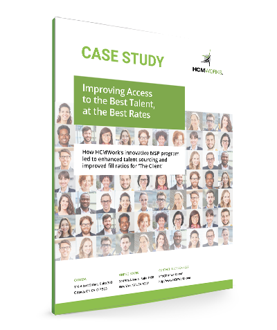 HCMWorks Case Study Cover for Improving Access to the Best Talent, at the Best Rates