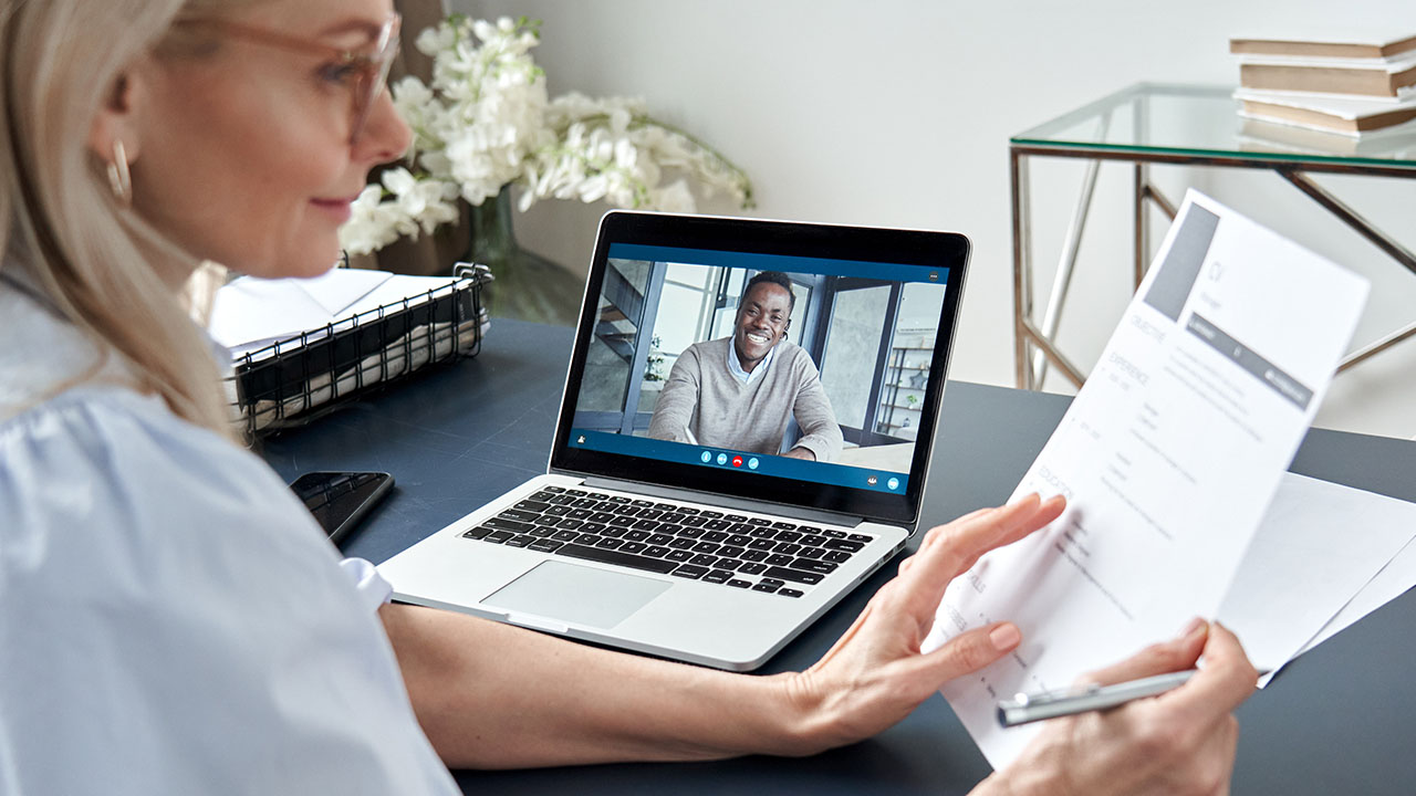 HR conducting a virtual interview