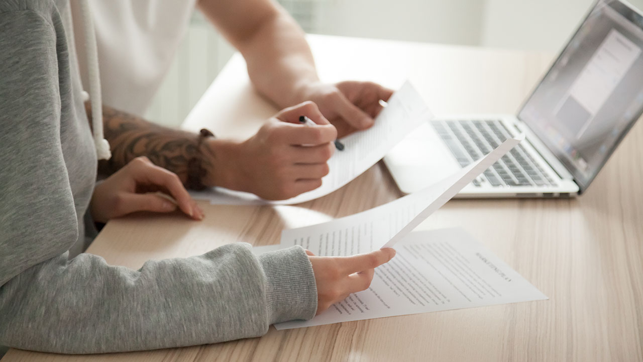 Two employers conducting a statement of work automation to personalize a contract