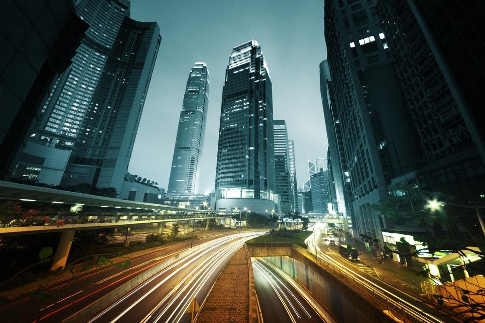 traffic in Hong Kong at sunset time.jpeg